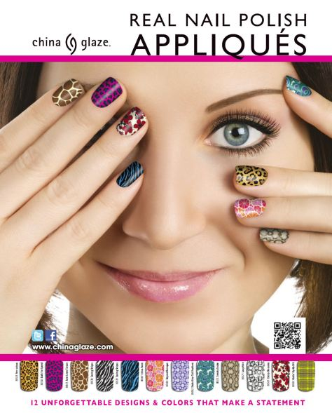 China Glaze Real Nail Polish Apliquess