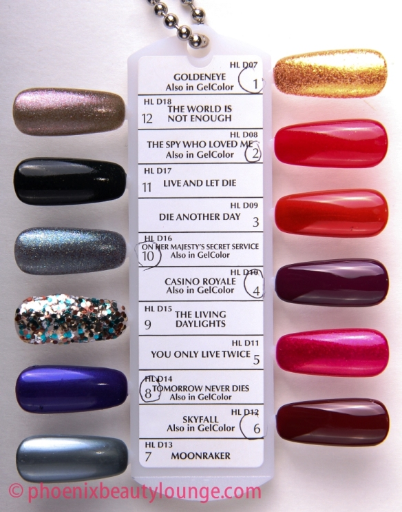OPI Skyfall James Bond 007 collection swatch