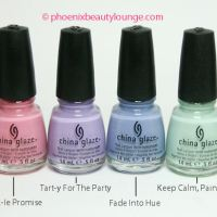 China Glaze Avant Garden Spring/Summer 2013 Swatches