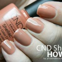 CND Shellac Step By Step Instruction + Nail Art