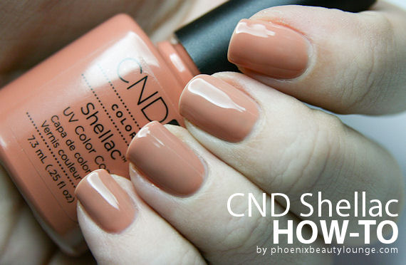 CND Shellac Step By Step Instruction + Nail Art | Phoenix Beauty Lounge