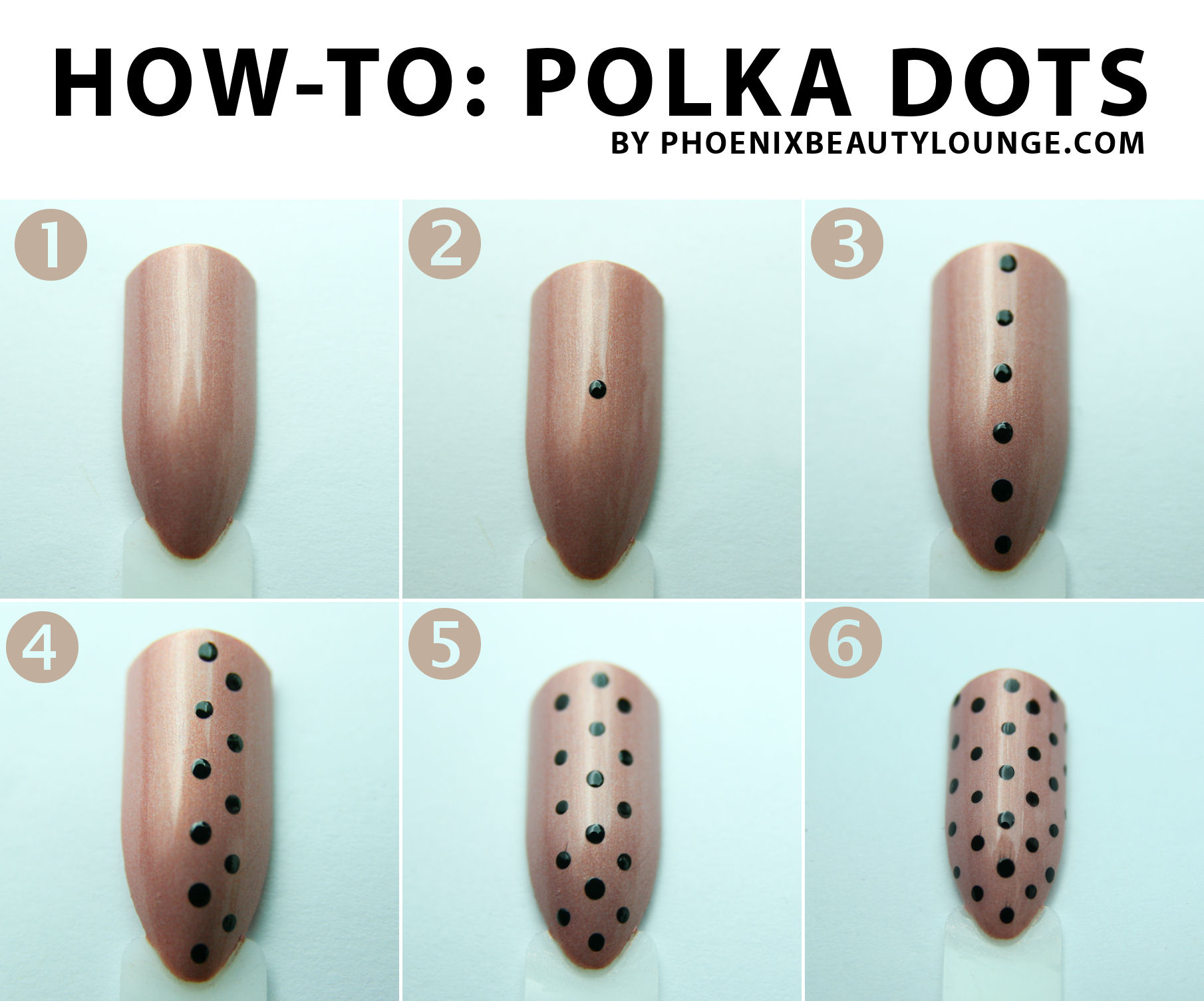 Nail Art Tutorial Polka Dots Phoenix Beauty Lounge