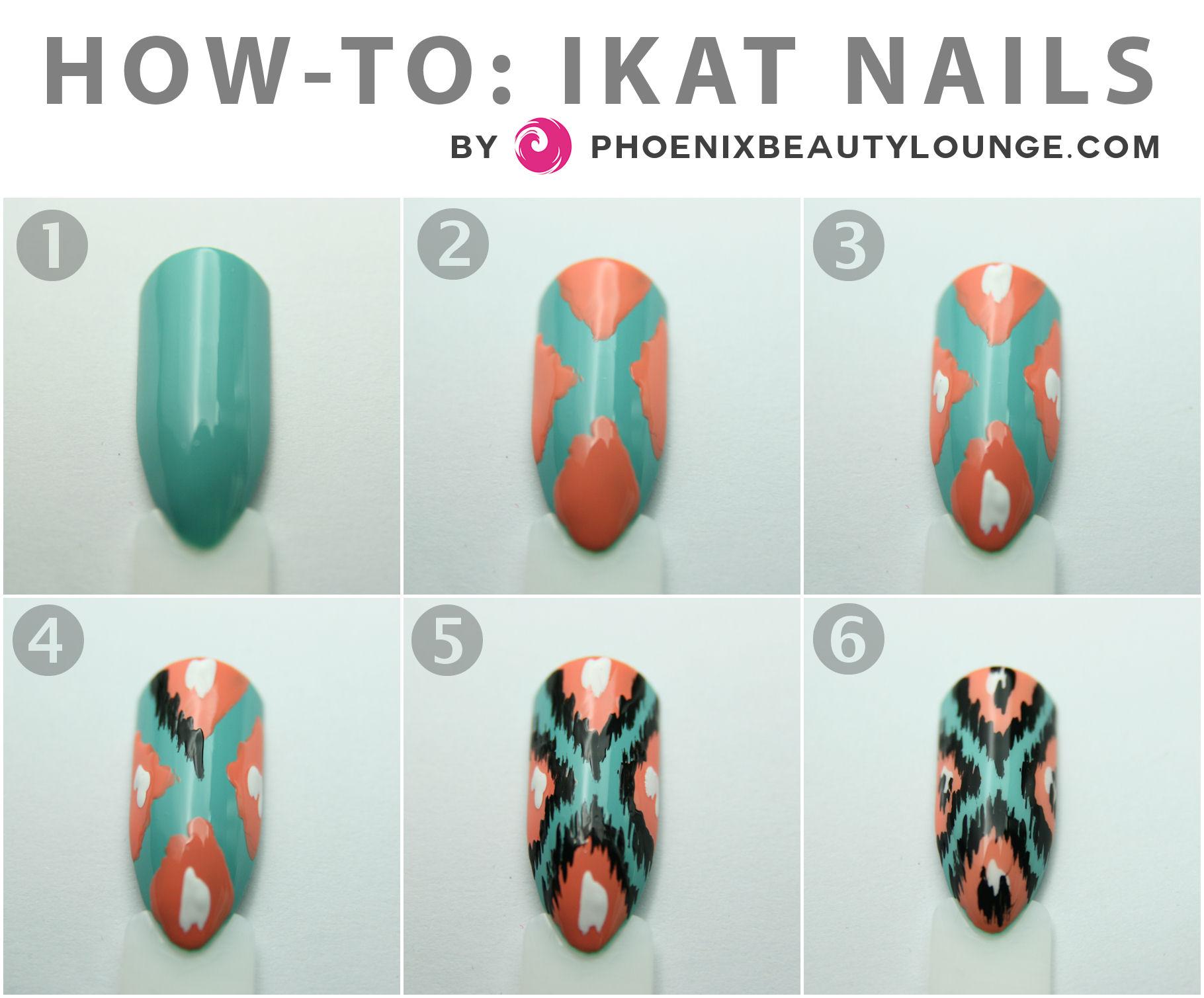 Nail Art Tutorial: Ikat Nails | Phoenix Beauty Lounge