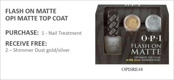 OPI Matte Top Coat Free glitter dust