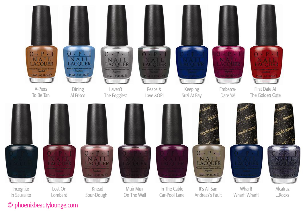 OPI San Francisco Fall / Winter 2013 Collection Preview | Phoenix ...