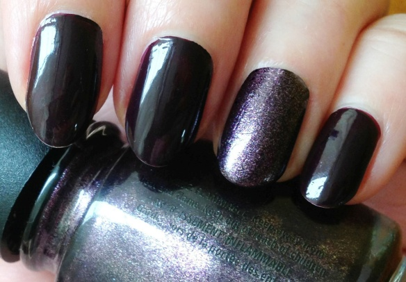 Essie Velvet Voyeur with accent finder China Glaze Rendezvous With You #showmeyourmani
