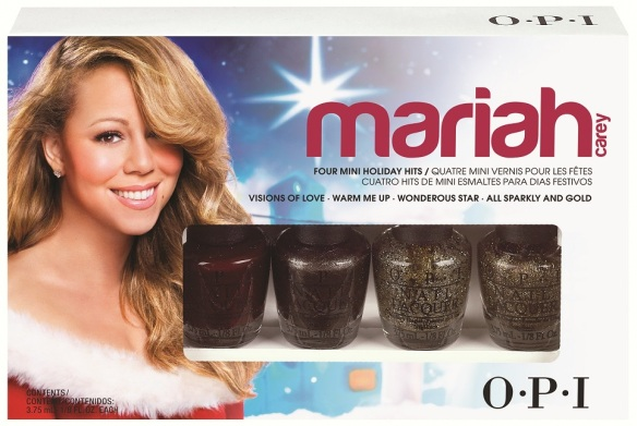OPI Mariah Carey Mini 4-Pack (Visions of Love, Warm Me Up, Wonderous Star, All Sparkly and Gold)