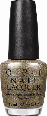 OPI HLE13 All Sparkly and Gold
