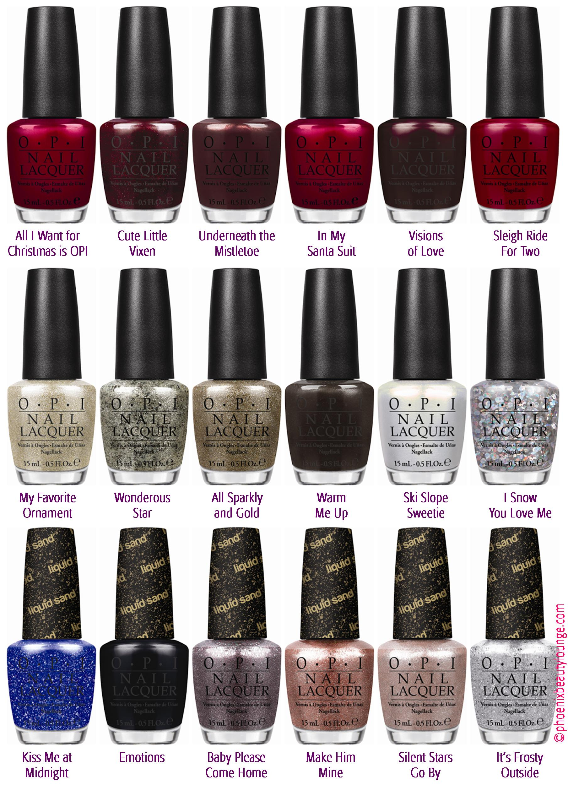 Opi In The Spot Light Pink: OPI Holiday 2013 Mariah Carey Collection (Press Release