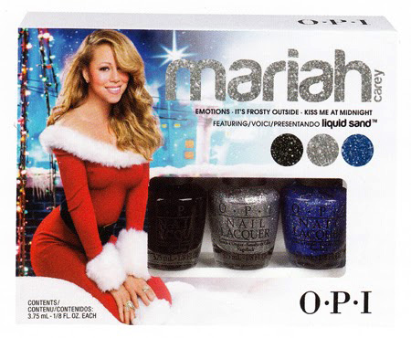 OPI Mariah Carey Mini Trio#2 (Emotions, It's Frosty Outside, Kiss Me at Midnight) (Liquid Sand)