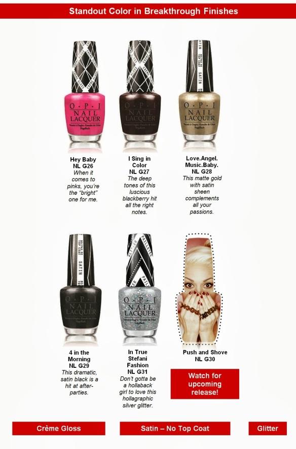 OPI Gwen Stefani Collection