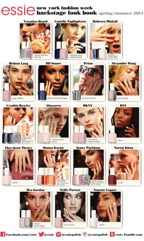 Essie Lookbook for NYFW S/S 2014