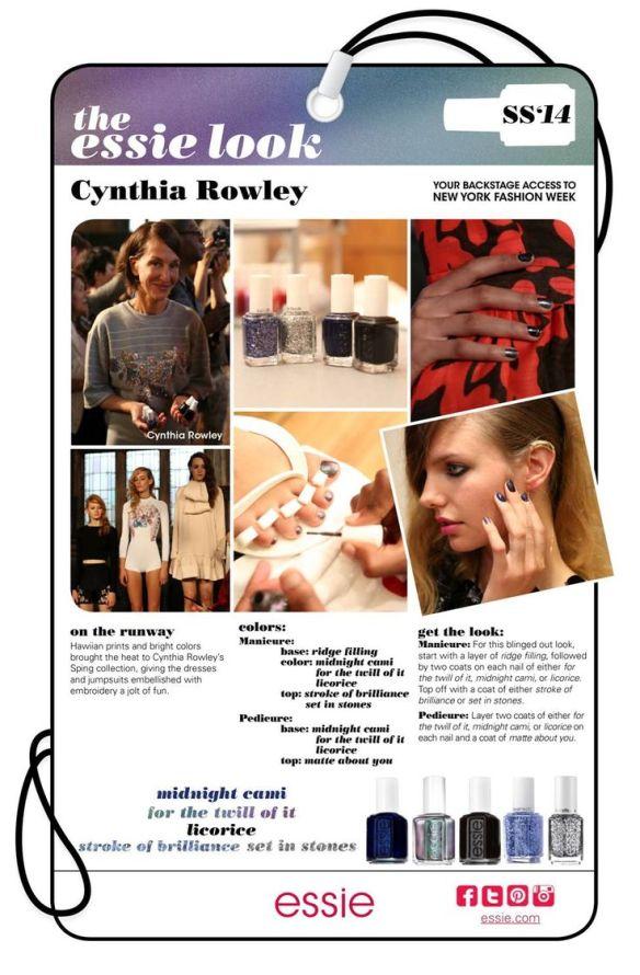 My Essie Look SS2014 NYFW Cynthia Rowley