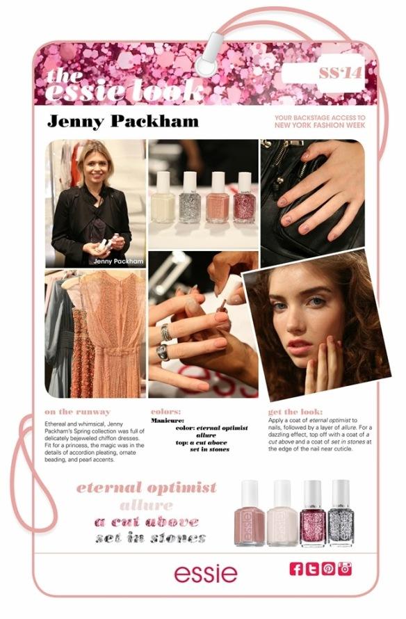 My Essie Look SS2014 NYFW Jenny Packham