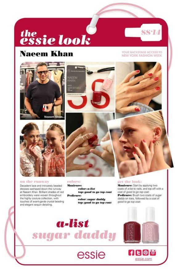 My Essie Look SS2014 NYFW Naeem Khan