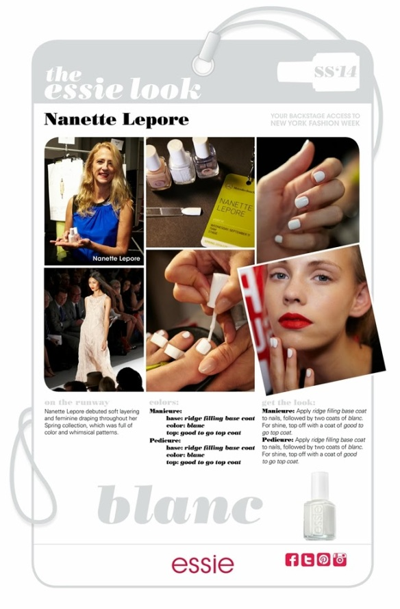 My Essie Look SS2014 NYFW Nanette Lepore
