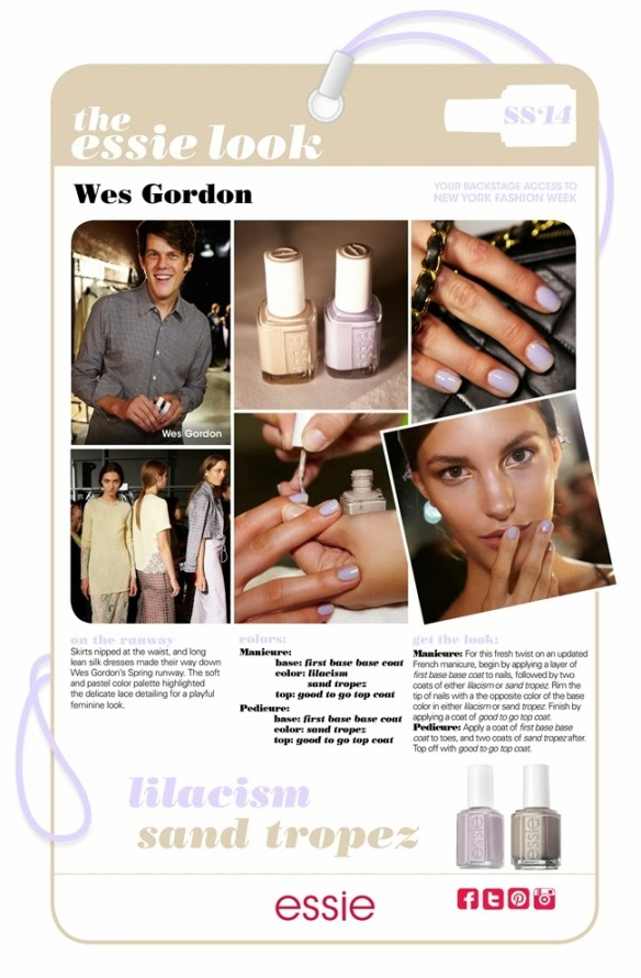 My Essie Look SS2014 NYFW Wes Gordon