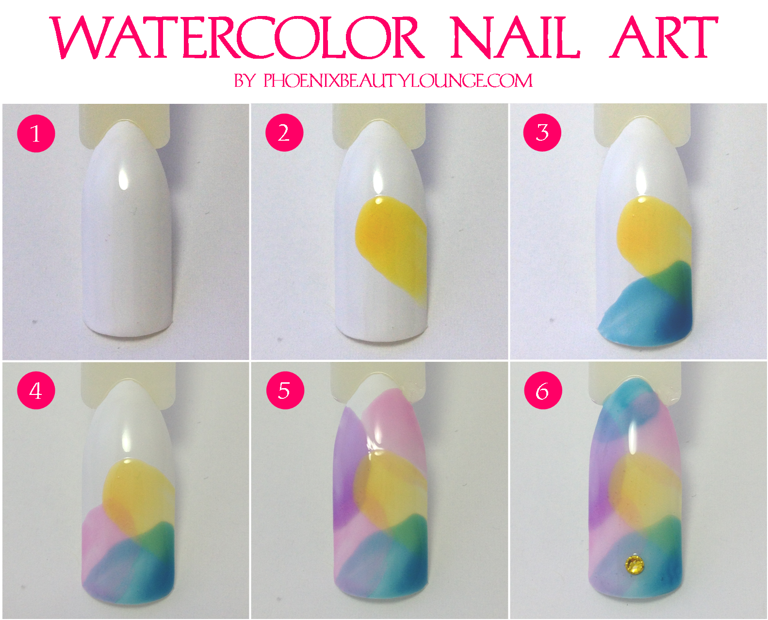 Easy Watercolor Nail Art using OPI Sheer Tints (plus ...