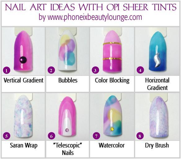Nail Art Ideas with OPI Sheer Tints