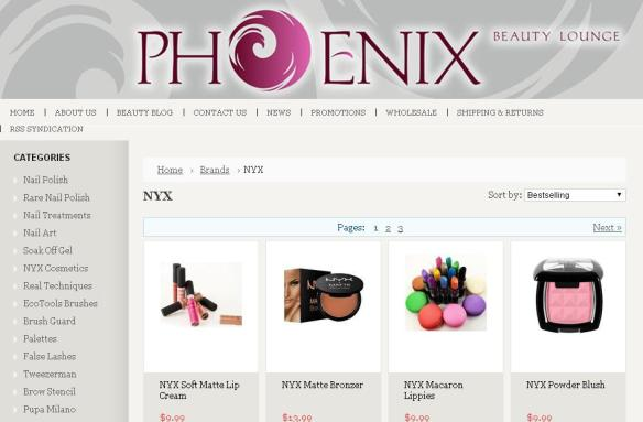 Our full line of NYX products is available for purchase on our website.
