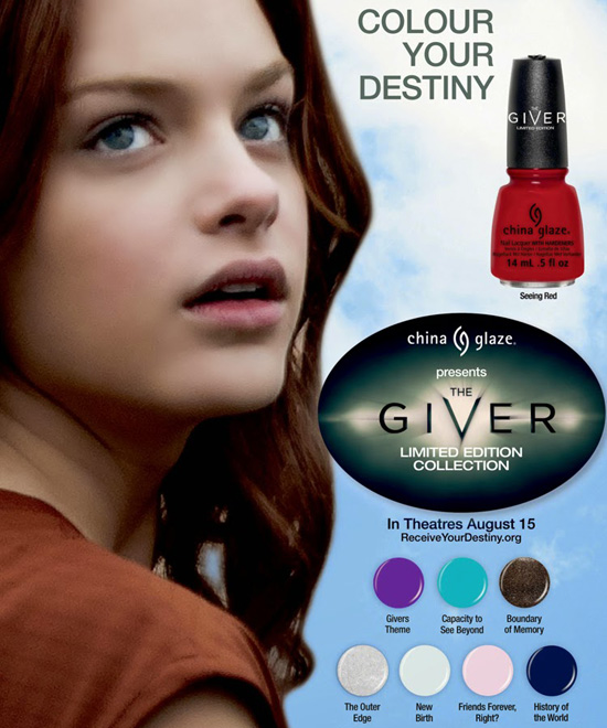 China Glaze The Giver Collection has arrived!
