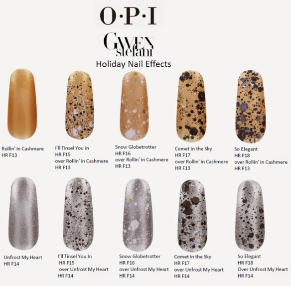 OPI Holiday 2014 Gwen Stefani Effects