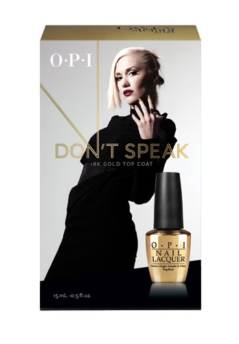 OPI HRF19 Don't Speak - 18K Gold Top Coat