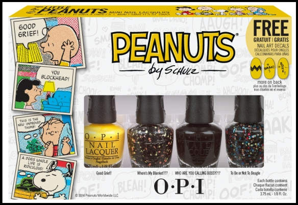 OPI Little Peanuts Mini Set of 4