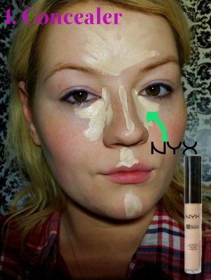 Cleopatra Makeup Tutorial Step 1 - Concealer