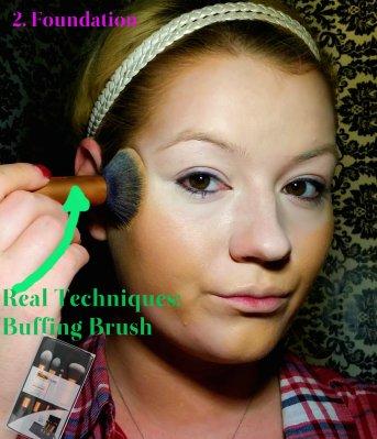 Cleopatra Makeup Tutorial Step 2 - Foundation