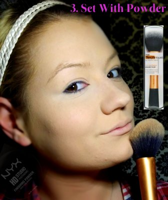 Cleopatra Makeup Tutorial Step 3 - Set With Powder