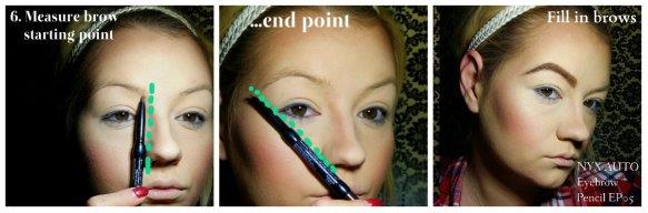 Cleopatra Makeup Tutorial Step 6 - Big Eyebrows2