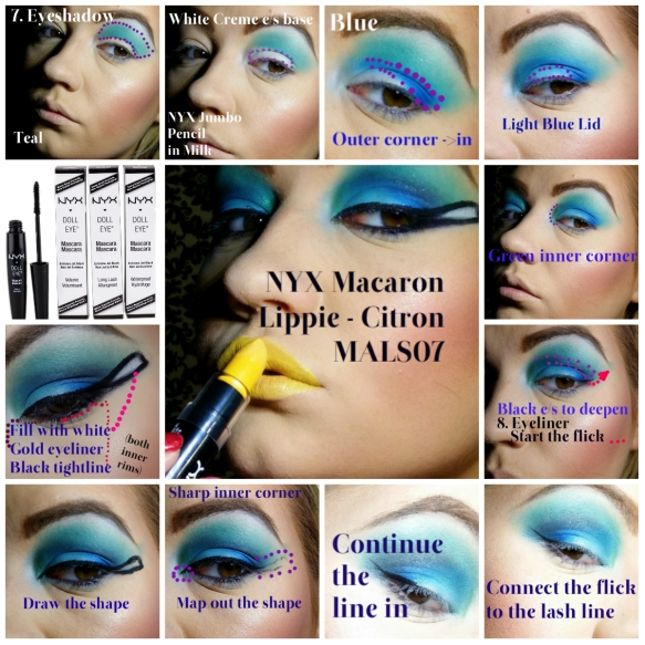 Cleopatra Makeup Tutorial Step 7 - Eyeshadow and Lips