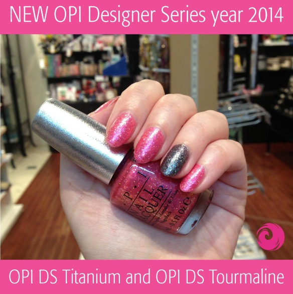 OPI DS Titanuim and OPI DS Tourmaline Swatch