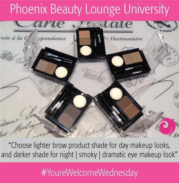 Choose lighter brow product shade for day makeup looks, and darker shade for night | smoky | dramatic eye makeup look.
