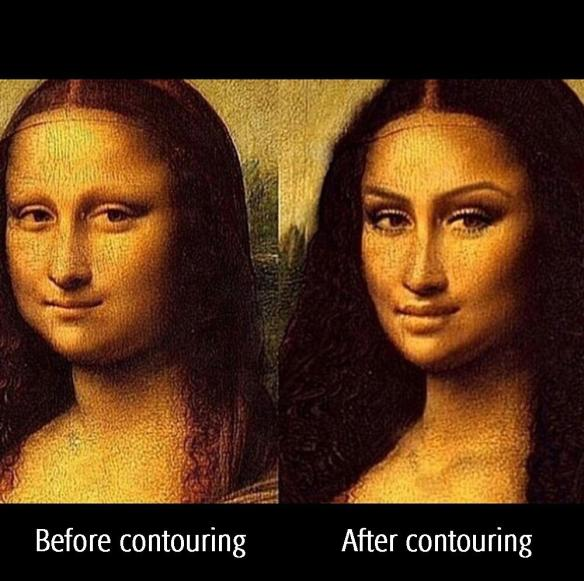 Before contouring. After contouring.
