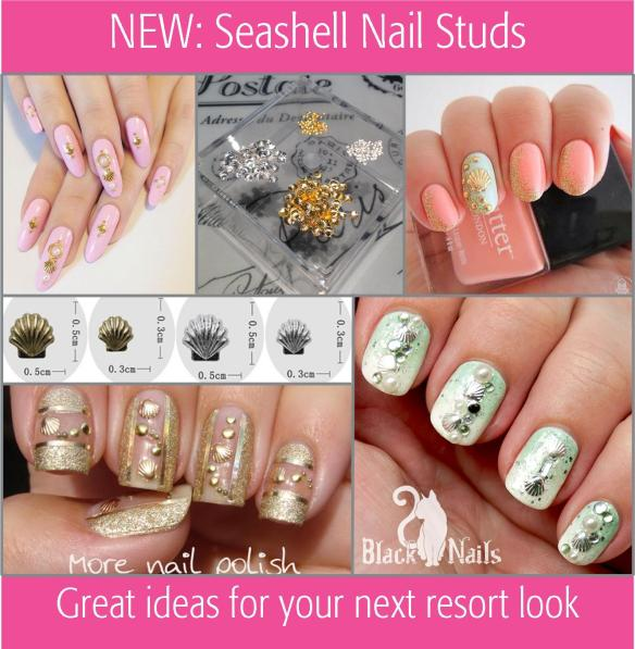 New: Seashell Nail Studs