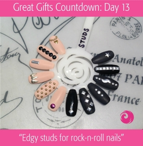 Great Gifts Countdown: Day 13 - Edgy studs for rock-n-roll nails