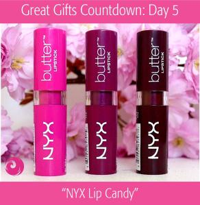 Great Gifts Countdown: Day 6 - NYX Lip Candy