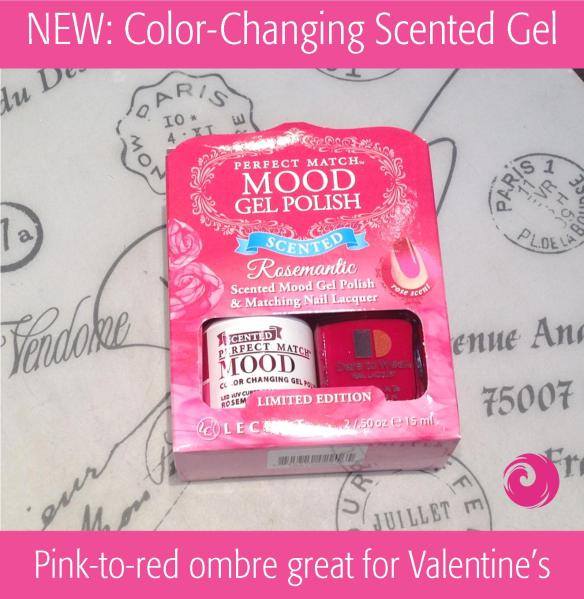 "NEW: Color-Changing Scented Gel ""Rosemantic"" by Mood Perfect Match."