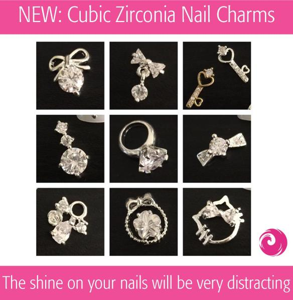 NEW: Cubic Zirconia Nail Charms