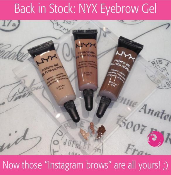 Back in Stock: NYX Eyebrow Gel
