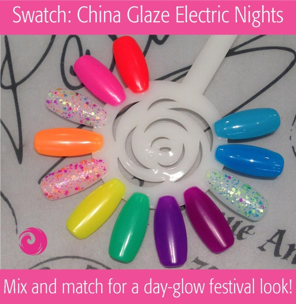 Swatch: China Glaze Electric Nights Summer 2015
