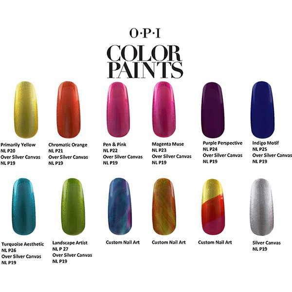 OPI Color Paints Swatches