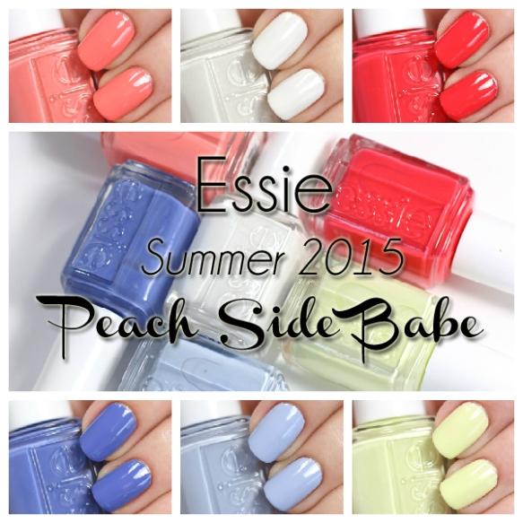 Essie Summer 2015, Swatch credit: alllacqueredup