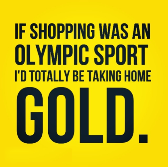 If shopping was an Olympic sport