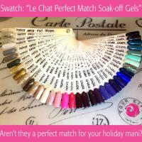 Swatch: Le Chat Perfect Match Soak-off Gels