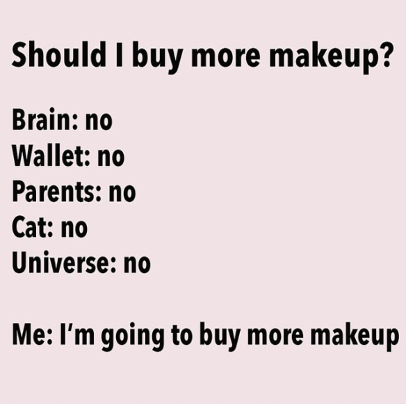 Makeup meme Should i buy more Makeup.PNG